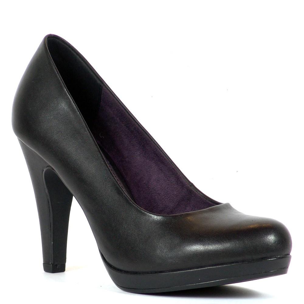 151699eaa608 Magas sarkú platformos Marco Tozzi cipő. Sarka 9,5 cm magas, talpa 1 cm. A  cipő természetes bőr felsőrésszel készült. Márka: Marco Tozzi Szín: Fekete  ...