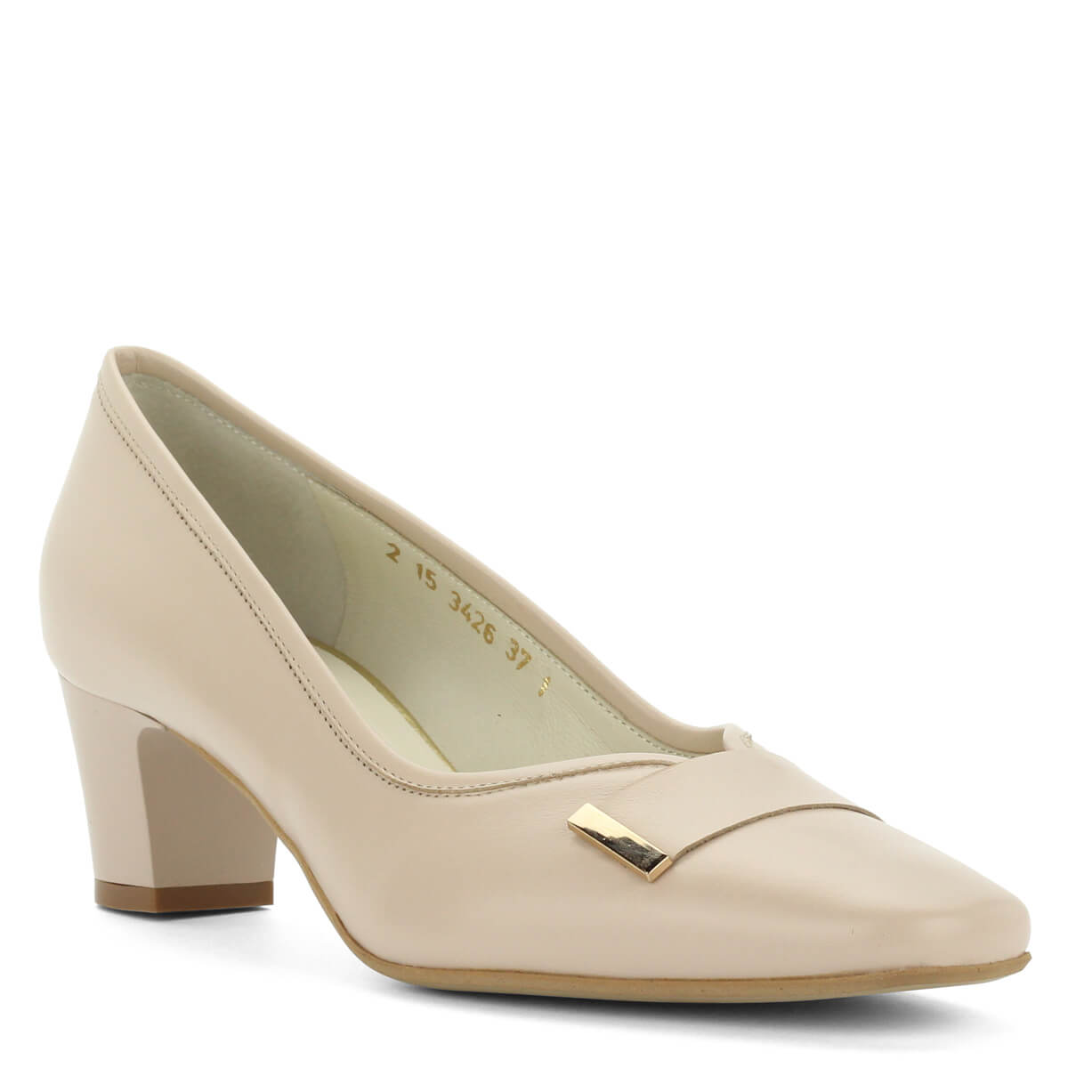 Kis sarkú bézs Anis bőr cipő. Kívül-belül bőr 73ac5ac931